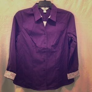 Brand new button down blouse